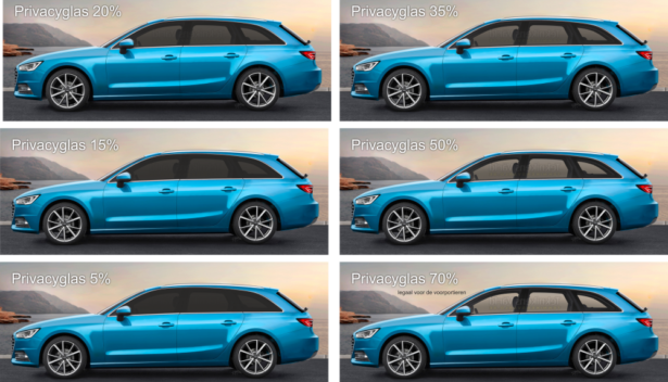 Privacyglass blue car